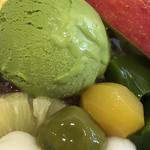 茶寮都路里 - アップにすると伝わる瑞々しさ(*^▽^*)何から食べる?何から食べたい?