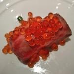 スコール - [料理] こぼれフレンチキャビアの和牛寿司 アップ♪w ①