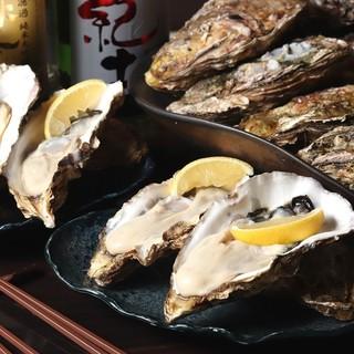 日本酒との相性を考えて作る絶品料理!産直大粒生牡蠣はイチオシ