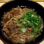 恵寿多 - 肉そば(上から)