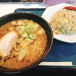 太平楽 - Bセットのラーメンと炒飯