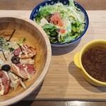 カフェ ビストロ セレンディピティ - 合鴨と香味野菜のビストロ丼。