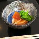 花山椒 - 先付 鮟肝角煮