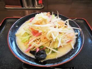 権現湖パーキングエリア上り線 スナックコーナー・フードコート - 野菜たっぷりちゃんぽん。770円