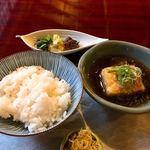 松籟庵 - 揚げ出し豆腐とお食事