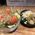 101557850 - 定食のサラダとザーサイ、ナムル