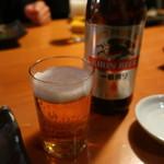 柏庵 - キリン一番搾り中瓶