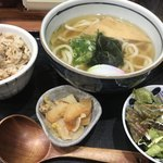 千舟屋 - 料理写真:うどん定食 600円