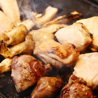 卓上ロースターで焼く『鶏焼肉』