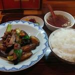 中華☀太陽 - 料理写真:茄子の八丁味噌炒め定食