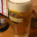 魚屋ひでぞう - 生ビール