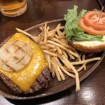 クアアイナ - 「チーズバーガーセット」1127円+「サイズチェンジ」191円