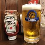 クアアイナ - 巨大な「生ビール LARGE」627円