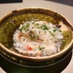 エクアトゥール - 河豚白子に蟹葛餡のソース