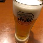 個室居酒屋 じどりや 一吟 - 生ビール(スーパードライ)