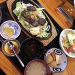 おいちゃんち - ハラミの鉄板焼き定食