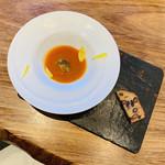 B.B.S. DINING. -  ✴︎アミューズ トマトのポタージュと黒豆のケークサレ