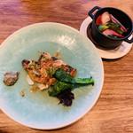 B.B.S. DINING. - 勝浦直送朝獲れ鮮魚スズキとアジと桜海老のナタージュ