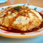 ぶ~にや - ぶ~にゃ@佐呂間町 トロトロオムライス・デミソース・チーズ入り・大盛り 斜め