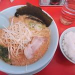 山岡家山形西田店 - 味噌ラーメン+白髪ネギ 650円 半ライス 120円