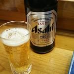 松すし - 中瓶ビール 618円 2019年02月