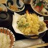 旬菜山﨑 - 料理写真:旬菜定食(天ぷら、お造り)