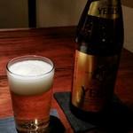 蕎麦懐石 無庵 - 瓶ビールは3種類。