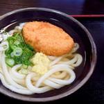 こがね製麺所 - 料理写真:コロッケうどん(かけうどん+コロッケ)