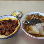 すずや食堂 - らーめん+ソースカツ丼