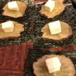 焼き鳥 ふじわら - いぶりがっこチーズ