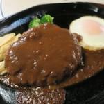 肉の万世 - 料理写真:・「ジャンボハンバーグランチ(¥1840)」