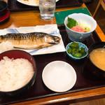 品川 ひおき - 焼きさばとまぐろ中落ち定食 980円