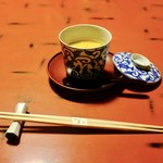 蘆月 - 前菜(ふぐ白子の茶碗蒸し)