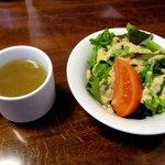 お座敷ダイニングカフェ 醍醐 - サラダ&スープ!