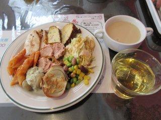 アクアフィオーレ - 前菜+スープ+ドリンク(ぷちバイキング)2019.02.05