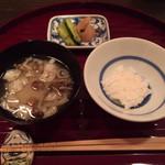 米屋別荘 - 味噌汁 ごはん
