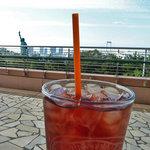 ロングボード・カフェ - 眺めがいいテラスで~ ピーチローズヒップティー♪
