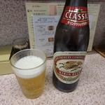 餃子天国 - びんビール(キリンクラッシックラガー)¥590