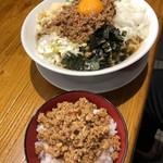 Menya yuusaburou - 台湾まぜそば、辛ミンチご飯♪