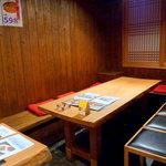 幸喜屋 - 半個室は最大14名までOK! ちょっとした集まりにも気軽に利用できる。