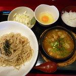 元喜神 - 鶏白湯カレーつけめん(チーズトッピング)