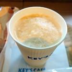 キーズカフェ - モーニングカフェラテ200円