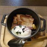 湯元 長静館 - 料理写真:夕食①(下仁田葱のエチュベ )