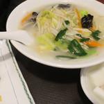 唐庄酒家 - <参考>野菜たっぷり塩タンメン・半炒飯セット