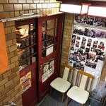 食香閣 - 地下のお店の入口