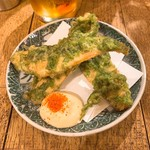 サレカマネ - ほっけと生海苔の天ぷら