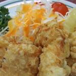 餃子の王将 - せんべろセットの唐揚げジャストサイズ