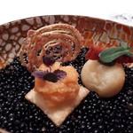 EdiTion Koji Shimomura - 「お芋チップス」「鱒の低温カナッペ からすみペースト」「チーズパン イベリコチョリソー」