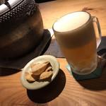 千寿 竹やぶ - お通しは蕎麦せんべい