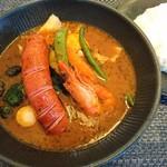 101660556 - ポークフランクto野菜カレー 焙煎エビスープ(1280円)